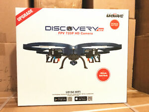 """Brand New UDI-818A """"DISCOVERY"""" WIFI Real Time Transmission Quadc"""
