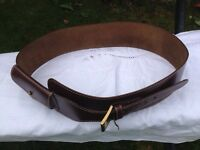 Accessorize New wide brown leather belt with purse detail £5