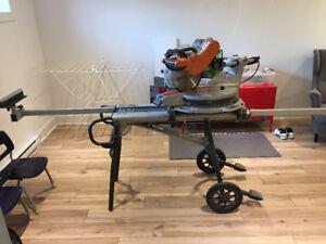 "Ridgid brand 12"" dual bevel sliding miter saw (15 AMPS)"