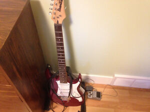 Ibanez Electric Guitar + Distortion Pedal