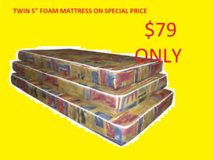 MATTRESS SALE TWIN FOAM ONLY $79 DOUBLE AND QUEEN AVAILABLE