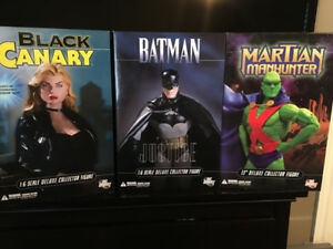 batman,black canary,martian manhunter 13 inch dc direct figures