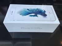Brandnew iPhone 6s plus 128 gb silver sealed on EE