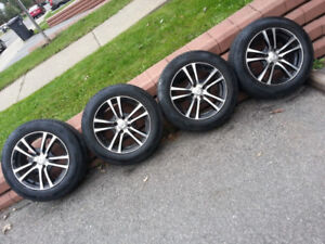 4 Mags avec Pneus d'été, 4 Mags with summer tires, Honda Civic