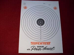 1960's Supertest target practise card Peterborough Peterborough Area image 1