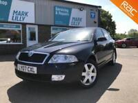 2007 Skoda Octavia 1.6 FSI Elegance petrol, Black only 45,000 miles ! WARRANTY