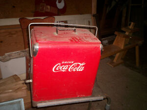Antique coke cooler c/w bottle opener