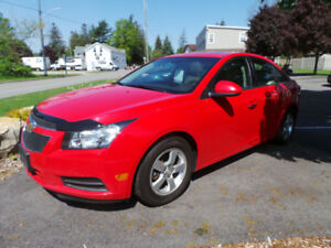 2014 CHEV CRUZE 2LT, LOADED, LEATHER, MOON, BACK UP CAM, ALLOYS