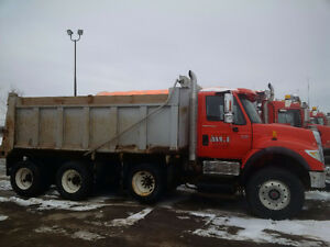 International 7600 Tri-axle Dump Truck