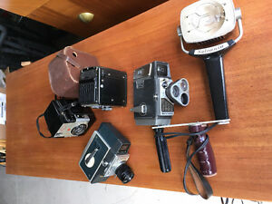Lot of 2 Antique Brownie camera and Movie camera