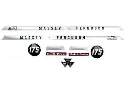 Complete Bonnet Decal Set For Massey Ferguson 175 Tractors. High Quality