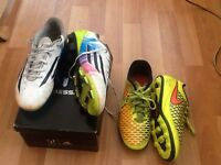 2 pair of football shoes