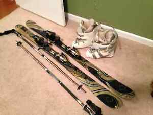 Priced to sell! BRAND NEW skiis/poles, also boots