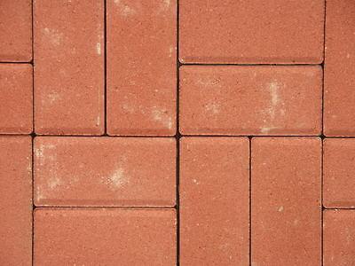 Betonpflaster Pflastersteine, rot 10x20x6 Rechteckpflaster Brötchenpflaster