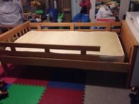 Single Bed - Pine Wood Frame & Mattress - 4 Years Old