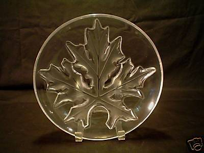 STUNNING LALIQUE FROSTED & CLEAR CRYSTAL LOW BOWL / CENTERPIECE