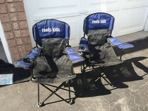 Roots kids folding chairs