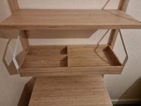 IKEA wall mounted shelf unit.