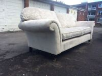 Laura Ashley large two seater Mortimer sofa in Villandry Dove Grey RRP £1380.