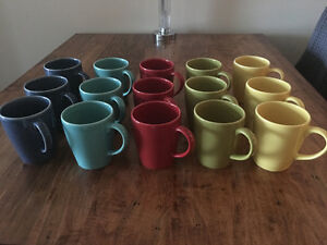 15 colourful Stoneware mugs ALL for $35