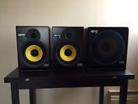 Reduced - Rokit KR8's studio monitors with 10 inch Subwoofer