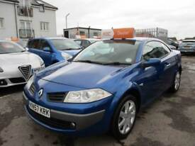 2007 Renault Megane Convertible 1.6VVT 111 Dynamique Petrol blue Manual