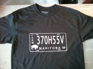 T Shirt  License Plate Manitoba