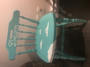 Blue hand-painted dream chair