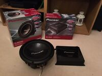 10 inch pioneer subwoofer and amp to drive