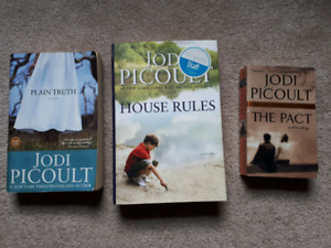 3 books by Judi Picoult: The Pact; House Rules; Plain Truth