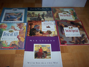 7 MAX LUCADO- large softcover inspiration kids books age 4-8 yr