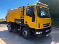 2012 62 Iveco Eurocargo 150E22 EEV Johnston VT650 dual sweep road sweeper