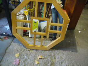 solid oak framed mirror hand made London Ontario image 1