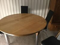Solid Oak Circular Dining Table