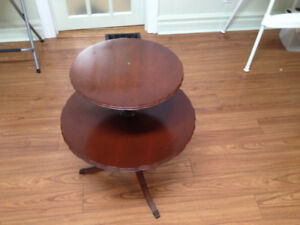 2 Tier Pie Crust Table - Antique - well made (walnut?)