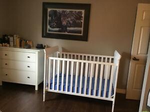 Baby Crib/Dresser and Organic Mattress Set