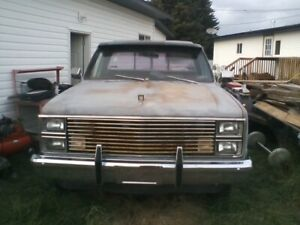 1983 Chevy c10 Project Truck & Parts$3300. Call/Txt 587-252-7282
