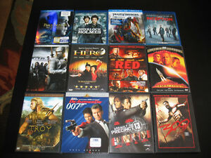 DVD & 4 BLUE RAY MOVIES FOR SALE