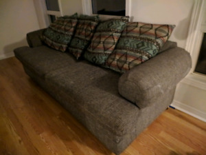 Comfy grey couch - $40 OBO