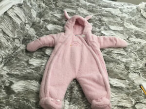 Bebe  d' Amour Fuzzy Bunny snowsuit with ears
