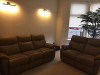 Recliner 3 & 2 seater leather sofas £575 ONO