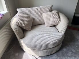 Gorgeous Dansk spinning sofa/armchair cuddle chair__ Can Deliver