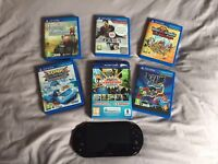 PS VITA SLIM WITH 10 games and memory card