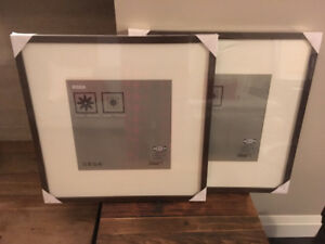 "IKEA RIBBA FRAMES in BROWN - 19 3/4"" x 19 3/4"" - NEW & SEALED"
