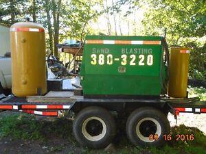 industrial sandblasting portable on site or off