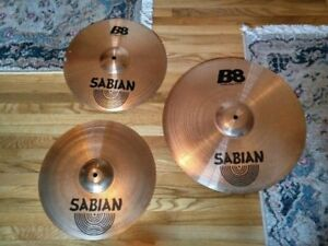 Sabian Crash Ride and Hi-Hats for sale! Great condition.