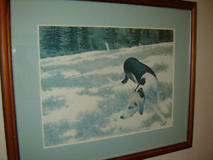 """For trade:  """"Hound in Field"""" by Alex Colville"""
