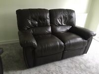 Brown recliner leather sofas EXCELLENT CONDITION