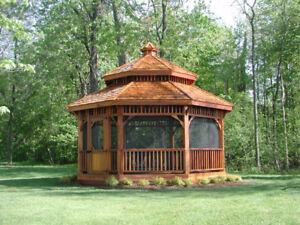 Gazebo – Gloriette – Pavillon en cèdre rouge