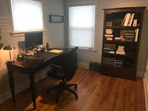 Solid wood desk, filing cabinet, and bookcase - Bombay Company